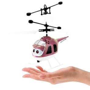 8188  2CH Infrared Sensor Hand Induction Mini Helicopter with LED Light (Gold)