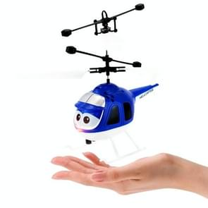 8188  2CH Infrared Sensor Hand Induction Mini Helicopter with LED Light(Blue)