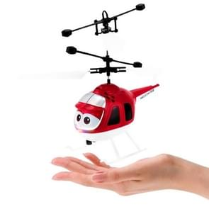 8188  2CH Infrared Sensor Hand Induction Mini Helicopter with LED Light (Red)