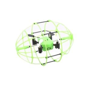 M69 4-Channel 3D Flip 2.4GHz FPV Radio Control Quadcopter with 6-axis Gyro & LED Light & Remote Controller & Rugby Shaped Protective Cover(Green)