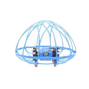 M73 4-Channel 3D Flip 2.4GHz FPV Radio Control Quadcopter with 6-axis Gyro & LED Light & Remote Controller & Hemisphere Shaped Protective Cover(Blue)