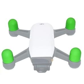 4 PCS Silicone Motor Guard Protective Covers for DJI Spark (Green)