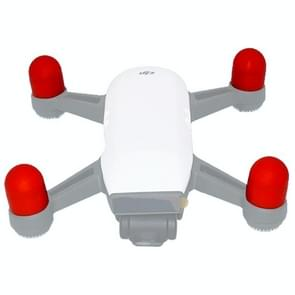 4 PCS Silicone Motor Guard Protective Covers for DJI Spark (Red)