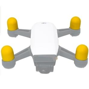 4 PCS Silicone Motor Guard Protective Covers for DJI Spark (Yellow)