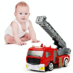 8027 Mini 1:58 40MHz 4CH RC Ascendant Ladder Fire Truck  Model Car with LED Light