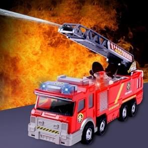 Eletric Sounding Lighting Water Spraying Fire Truck Model Car