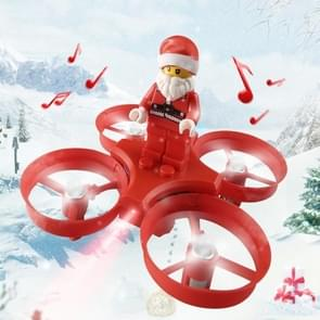 JJR/C H67 Flying Santa Claus WiFi FPV Drone 2.4GHz RC Helicopter with Remote Controller, Song Playing, Headless Mode, Return to Home(Red)