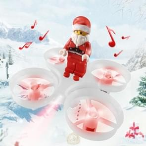 JJR/C H67 Flying Santa Claus WiFi FPV Drone 2.4GHz RC Helicopter with Remote Controller, Song Playing, Headless Mode, Return to Home(White)