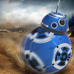 Colorful LED Music Rechargeable 360 Degree Rolling Ball Robot with Remote Control, Size: About 13*13*20.5cm(Blue)