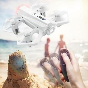 JJR/C H63 Baby Crab Palm-sized Sensor Control Drone with LED Light & Remote Control, Support Headless Mode, Speed Control, Emergency Stop (White)