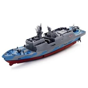 3318 4-Channel 2.4Ghz Radio Control Racing Boat Electric RC Speedboat Frigate Kids Toy with Remote Controller(Grey)