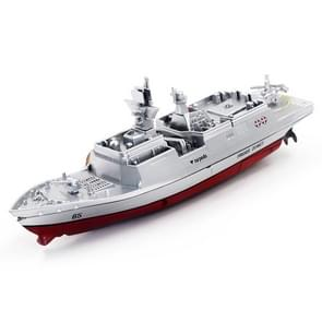 3318 4-Channel 2.4Ghz Radio Control Racing Boat Electric RC Speedboat Frigate Kids Toy with Remote Controller(Silver)
