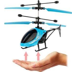 Utoghter 69202 2CH Infrared Sensor Mini Helicopter with LED Light(Blue)