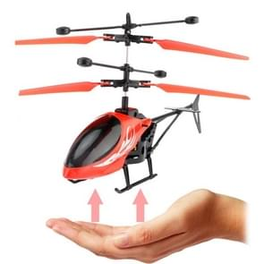 Utoghter 69202 2CH Infrared Sensor Mini Helicopter with LED Light(Red)