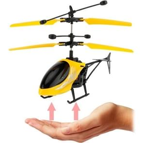 Utoghter 69202 2CH Infrared Sensor Mini Helicopter with LED Light(Yellow)