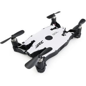 JJR/C H49 Ultrathin Folding Drone 3D Flip WiFi Real-time RC Quadcopter with 720P Camera & LED Light, Altitude Hold, Real-time FPV, One Key Return (White)