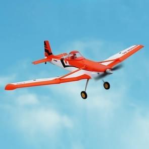 Dynam DY8967BNP Cessna 188 Crop Duster 1500mm Wingspan RC Trainer Plane Model Airplane, Include 2.4GHz Receiver met 6-Axis Gyro, BNP versie (Oranje)
