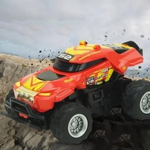 8024 1:58 4CH Mini RC Off-road Car with Remote Control (Red+Yellow)