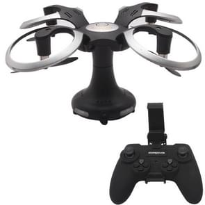 415B Foldable Round Drone 2.4GHz 4-CH 6-Axis Gyro RC Quadcopter with 0.3MP WiFi Camera & LED Light & Remote Control, Headless Mode, One Key Return, Hovering(Black)