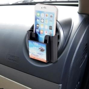 Karew KL-011 Universal Smart Phone Card Car Mount Air Vent Holder Cradle, For iPhone, Galaxy, Huawei, Xiaomi, Sony, LG, HTC, Google and other Smartphones(Black)