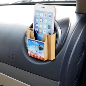 Karew KL-011 Universal Smart Phone Card Car Mount Air Vent Holder Cradle, For iPhone, Galaxy, Huawei, Xiaomi, Sony, LG, HTC, Google and other Smartphones(Khaki)