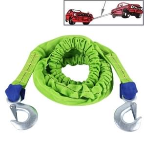 ZONGYUAN ZY-107B 4m×3.5cm 2 Ton Car Elastic Voorce Towing Rope Straps met Two Hooks High Strength Kabel Cord Heavy Duty Recovery Securing Accessories voor Cars Trucks