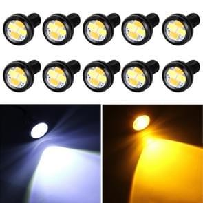 10 PCS 20W 4 LEDs SMD 5630 White Light + Yellow Light Daytime Running Light Turn Light Eagle Eye Light, DC 12V, Cable Length: 90cm