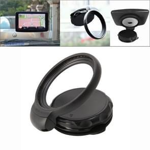 Rotation Foldable Adjustable Car Suction Cup GPS Holder Stand for TomTom One V4(Black)
