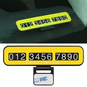 Creative Temporary Parking Card Car Sticker(Yellow)