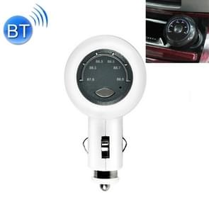 LS-3003 Wireless Bluetooth V4.0 FM Transmitter MP3 Player Radio Adapter Car Charger, with Hand-Free Calling, Music Player, USB Charge (White)