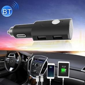 LS-3010 Wireless Bluetooth FM Transmitter MP3 Player Radio Adapter Car Kit Charger, with Hand-Free Calling, Music Player, 1A / 2.1A Dual USB Charging Ports, NFC Function