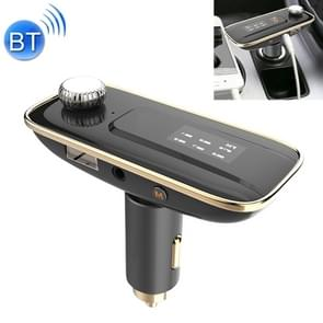 LS-3012 Wireless Bluetooth FM Transmitter MP3 Player Radio Adapter Car Kit Charger, with 1.1 inch Display, Hand-Free Calling, Music Player, USB Charging Port, NFC Function, Support TF Card Slot AUX Input (Gold)