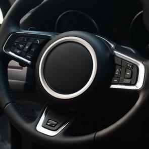 Car Auto Steering Wheel Aluminum Alloy Ring Cover Trim Sticker Decoration for Jaguar (Silver)