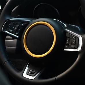 Car Auto Steering Wheel Aluminum Alloy Ring Cover Trim Sticker Decoration for Jaguar(Gold)