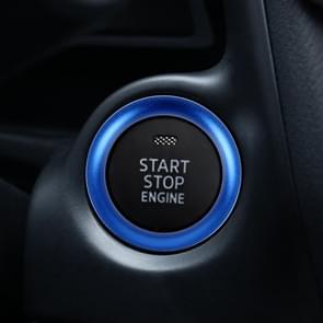 Car Engine Start Key Push Button Ring Trim Aluminum Alloy Sticker Decoration for Mazda(Blue)