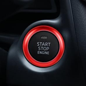Car Engine Start Key Push Button Ring Trim Aluminum Alloy Sticker Decoration for Mazda(Red)