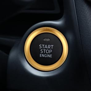 Car Engine Start Key Push Button Ring Trim Aluminum Alloy Sticker Decoration for Mazda(Gold)