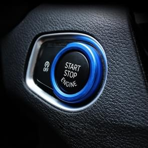 Car Engine Start Key Push Button Ring Trim Aluminum Alloy Sticker Decoration for BMW (Blue)