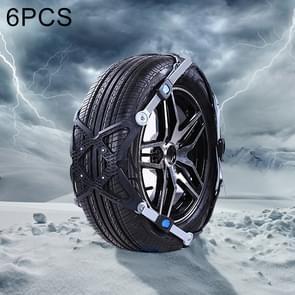 6 PCS Car Tire Emergency Cross Anti-skid Chains Tyre Anti-slip Chains (Large Size)
