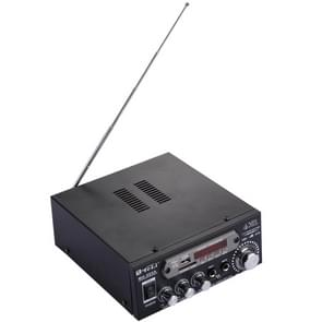 MA-005A 2CH  HiFi Stereo Audio Amplifier with  Remote Control, Support FM / SD / MP3 Player / USB / Display, AC 220V / DC 12V
