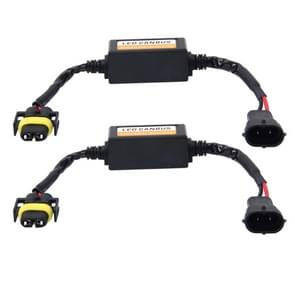 2 PCS H11/H8/H9/H16/5202 Car Auto LED Headlight Canbus Warning Error-free Decoder Adapter for DC 9-16V/20W-40W