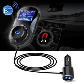 Wireless Bluetooth FM Transmitter Radio Adapter Car Charger, with Hand-Free Calling and 1.4 inch LCD Display, Supports TF Card Slot USB Car Charger for Smartphones