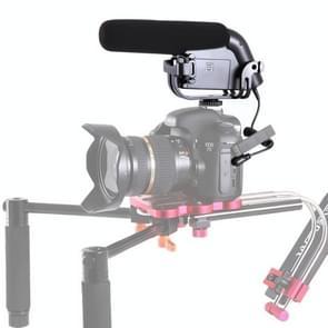 BOYA BY-VM190 Shotgun Broadcast-Quality Condenser Microphone with Integrated Shock Mount & Windshield for DSLR & DV Camcorder(Black)