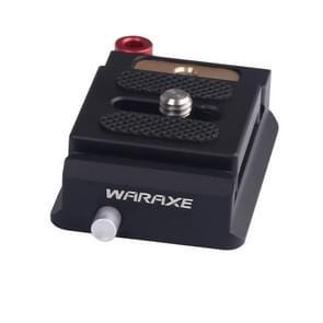 WARAXE 1633 Lock Knob Arca-Swiss Standard Quick Release Plate Clamp(Black)