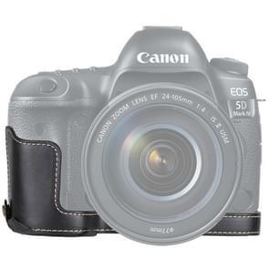 1/4 inch Thread PU Leather Camera Half Case Base for Canon EOS 5D Mark IV / 5D Mark III(Black)