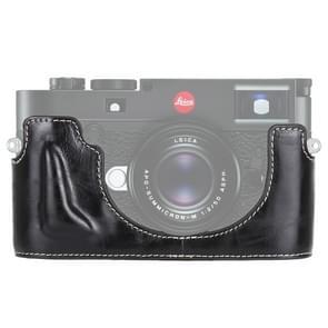 1/4 inch Thread PU Leather Camera Half Case Base for Leica M10 (Black)