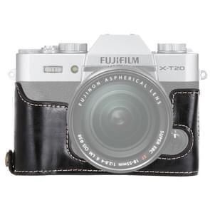 1/4 inch Thread PU Leather Camera Half Case Base for FUJIFILM X-T10 / X-T20 (Black)