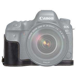 1/4 inch Thread PU Leather Camera Half Case Base for Canon EOS 6D /  6D Mark II (Black)