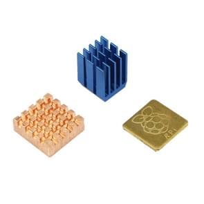3 in 1 Cooling Heatsink Copper + Aluminium Heat Sink Pad Shims for Raspberry Pi 3 / 2 / B+
