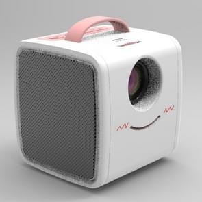 W-S1 10W Children Video Projector 30 Lumens HD 1080P LCD Technology, Support AV / USB / Mini SD Card / HDMI / Audio (Pink)